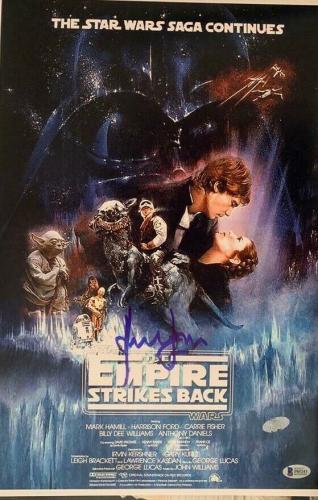 Harrison Ford Signed Star Wars Indiana Jones 12x18 Photo Poster Beckett BAS COA