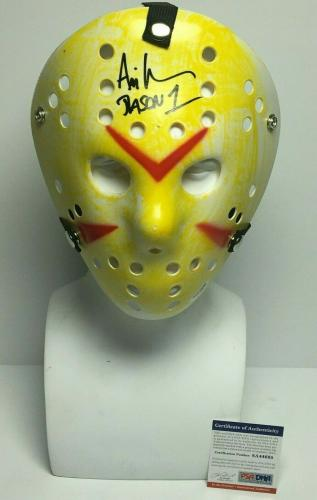 "Ari Lehman Signed Friday The 13th Mask ""Jason 1"" PSA 8A44695"
