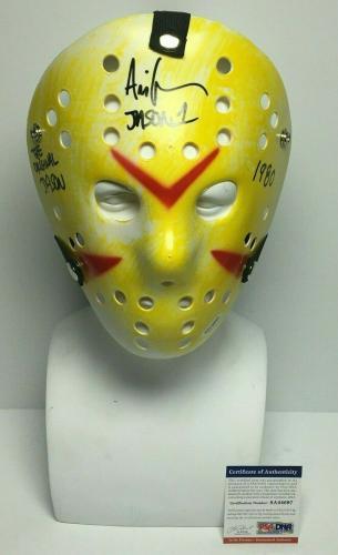 "Ari Lehman Signed Friday The 13th Mask ""The Original Jason/1980"" PSA 8A44697"