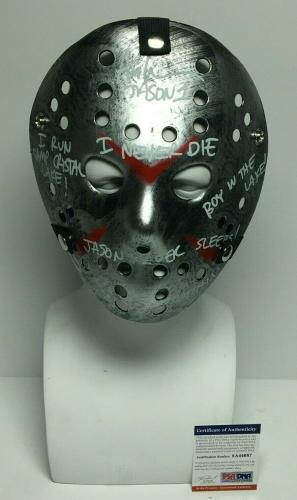"""Ari Lehman Signed 'Friday The 13th' Mask """"Jason Is Watching/I Never Die/+4"""" PSA"""