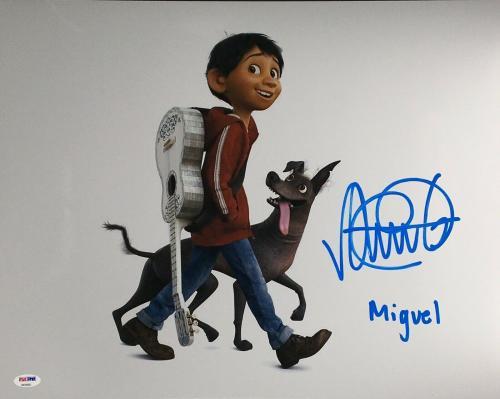 "Anthony Gonzalez Signed 'Coco' 16x20 Photo ""Miguel"" PSA 8A59698"