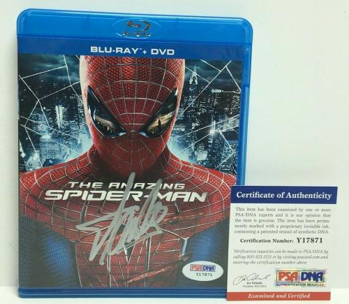 Stan Lee Signed The Amazing Spider-Man DVD PSA Y17871
