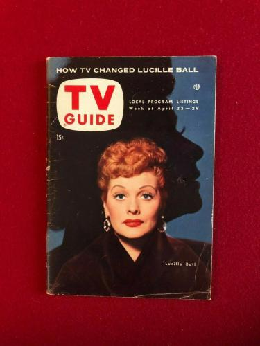 "1954, Lucille Ball, ""TV GUIDE"" Magazine (No Label) Vintage / Scarce"
