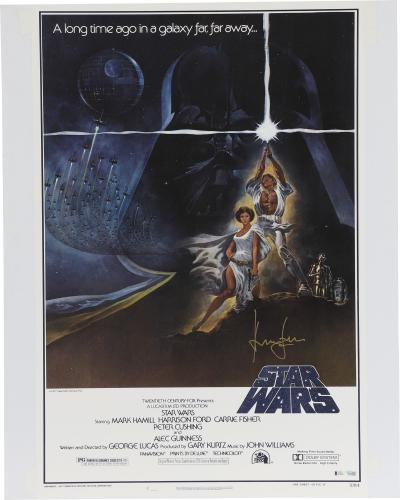 Harrison Ford Star Wars Autographed Movie Poster - BAS