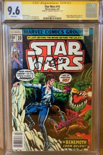 Han Solo #10 CGC 9.6 Signed by Harrison Ford Star Wars Marvel Comic Signature