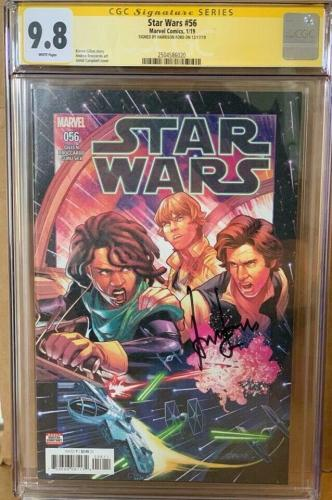 Han Solo CGC 9.8 Signed Harrison Ford Star Wars #56 Marvel Comic Signature