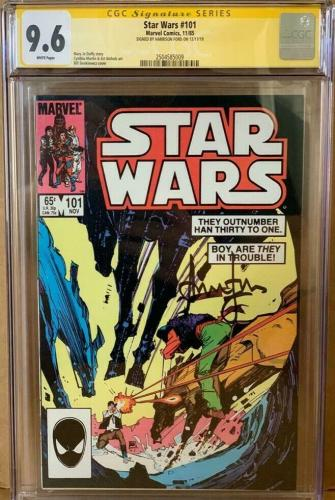 Han Solo #101 CGC 9.6 Signed by Harrison Ford Star Wars Signature Series Marvel