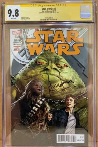 Han Solo #35 CGC 9.8 Signed by Harrison Ford Star Wars Signature Series Marvel
