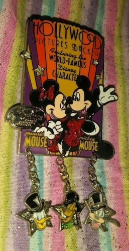Wdw Disney World Ron Burrage Signed Mickey Minnie Hollywood Pictures Pin /le
