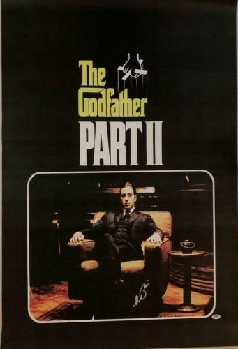 AL Pacino Godfather Full size poster 27x40 PSA/DNA ITP COA Witness