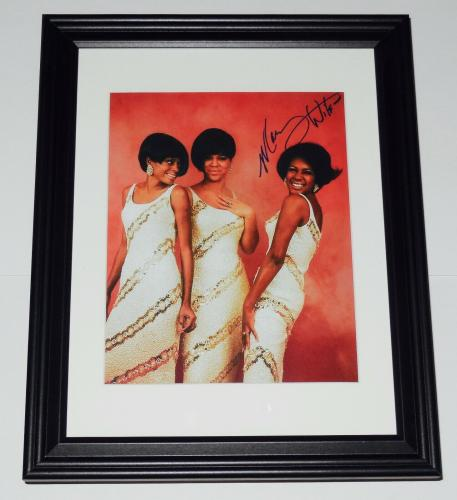 Mary Wilson Autographed 8x10 Color Photo (framed & Matted) - The Supremes!