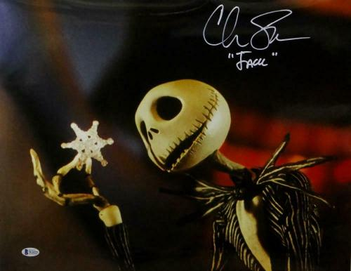 "Chris Sarandon Signed Nightmare Before Christmas 16x20 ""Jack"" Photo-Beckett Auth"