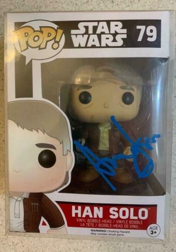 Harrison Ford Signed Han Solo Funko Pop Star Wars  Auto Beckett BAS Witness 79