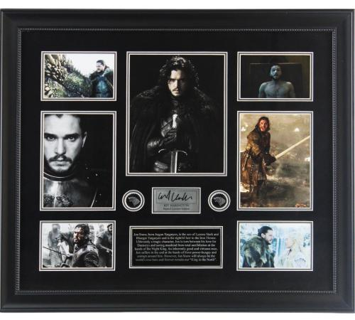 Kit Harington Signed Game of Thrones 24×28 Framed Photograph Collage with Plaque