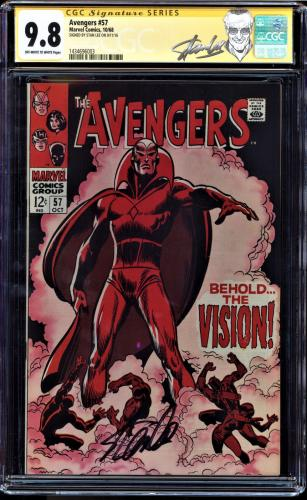 AVENGERS #57 CGC 9.8 SS STAN LEE 1ST VISION GREAT SIG lOCATION - CUSTOM LABEL
