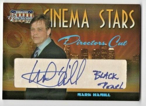 2008 Donruss Americana Cinema Stars Mark Hamill Directors Cut Auto #'d 48/70