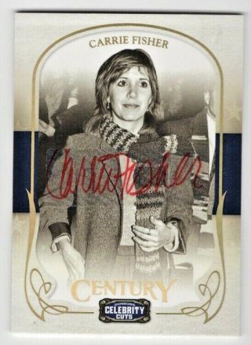 2008 Donruss Celebrity Cuts Century Star Wars Carrie Fisher Auto #'d 05/18