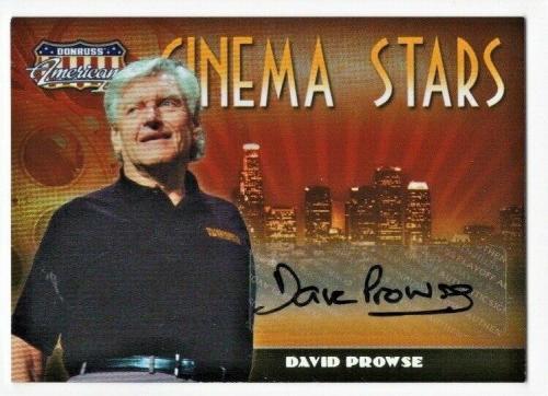 2008 Donruss Americana Cinema Stars Star Wars Dave Prowse Auto #'d 031/100