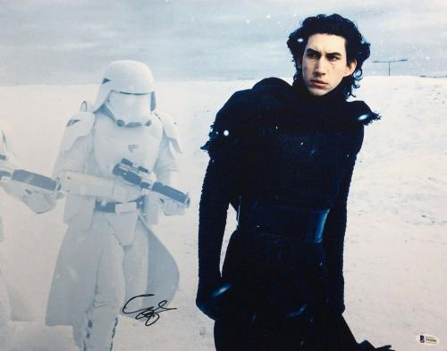 Adam Driver Signed Star Wars:The Force Awakens 16x20 Photo *Kylo Ren BAS S96086