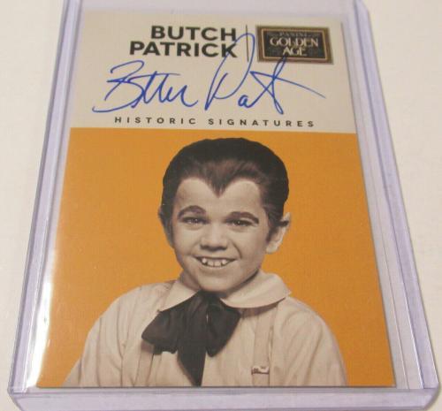 2014 Panini Golden Age Historic Signed Auto Butch Patrick Eddie Munster Card