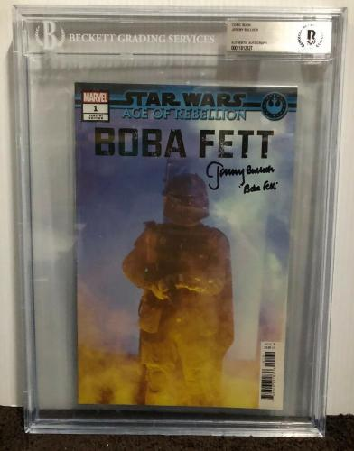 Jeremy Bulloch Signed Stars Wars Boba Fett Comic Book Beckett Slabbed 11