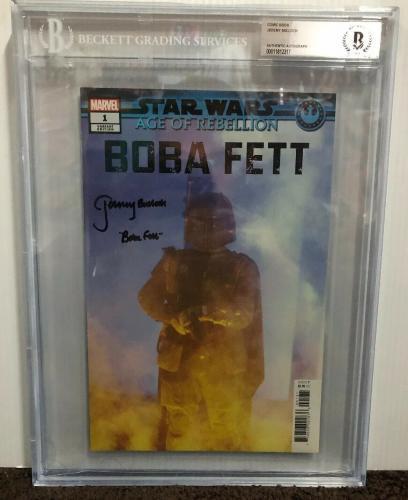 Jeremy Bulloch Signed Stars Wars Boba Fett Comic Book Beckett Slabbed 3