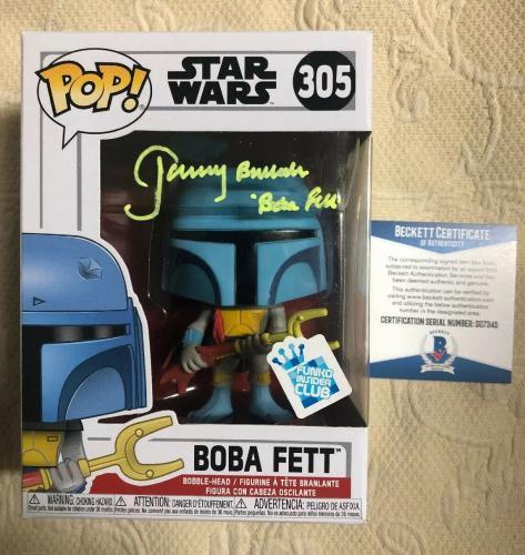 Jeremy Bulloch Signed Autographed Boba Fett Star Wars GS Funko Pop Beckett 5