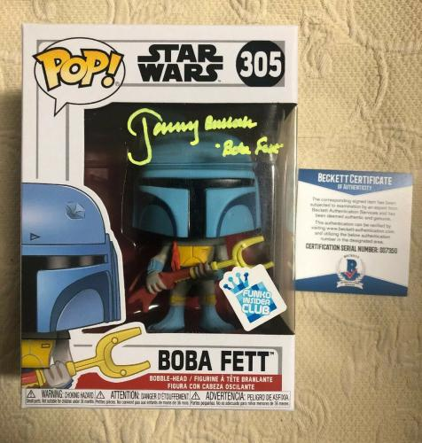 Jeremy Bulloch Signed Autographed Boba Fett Star Wars GS Funko Pop Beckett 7