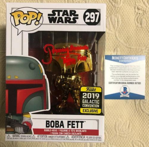 Jeremy Bulloch Signed Autographed Boba Fett Star Wars 2019 Funko Pop Beckett 21