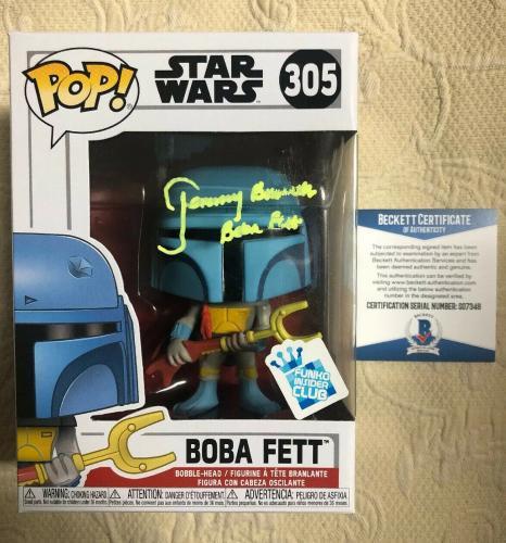 Jeremy Bulloch Signed Autographed Boba Fett Star Wars GS Funko Pop Beckett 6
