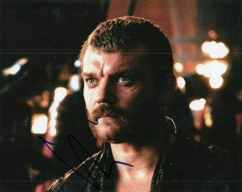 PILOU ASBAEK signed (GAME OF THRONES) Euron Greyjoy 8X10 photo *PROOF* W/COA #4