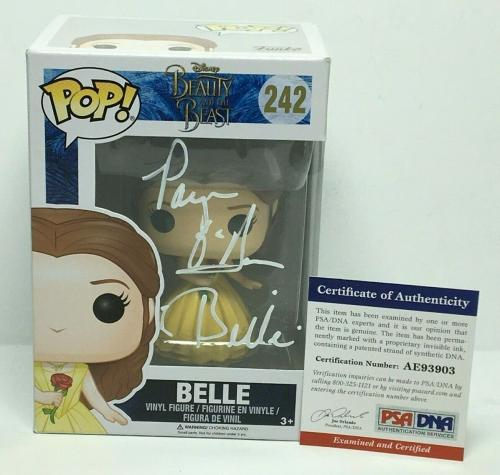 "Paige O'Hara Signed Disney Funko Pop #242 *Beauty And The Beast ""Belle"" PSA 3903"