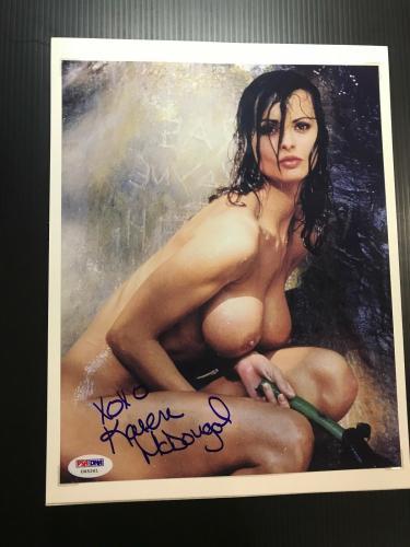 Karen McDougal Signed Photo 8x10 Sexy Playboy Playmate Donald Trump 1998 PSA/DNA