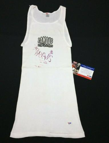 Travis Barker Signed Famous Stars & Straps Under-Shirt *Blink 182 Drummer PSA