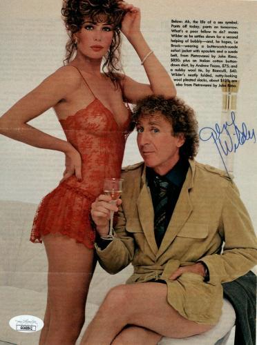 Gene Wilder Signed Autographed Magazine Photo Holding Champagne JSA GG68842
