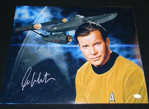 WILLIAM SHATNER SIGNED AUTOGRAPHED STAR TREK CAPTAIN KIRK 16x20 PHOTO JSA