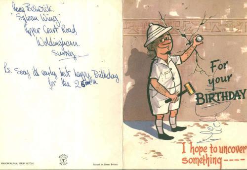 Mick Jagger Vintage Signed 4x7 Birthday Card Beckett BAS