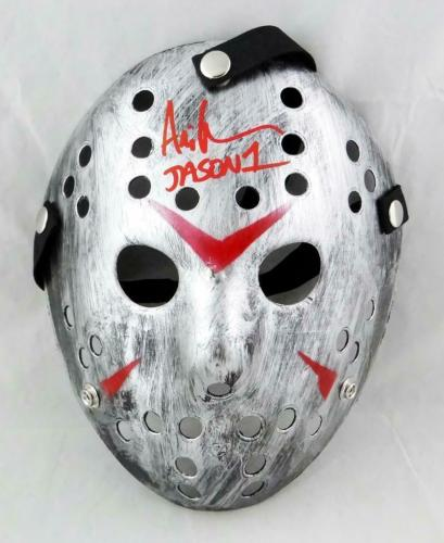 Ari Lehman Signed Friday The 13th Silver Jason Mask w/ Jason 1- JSA W Auth *Red