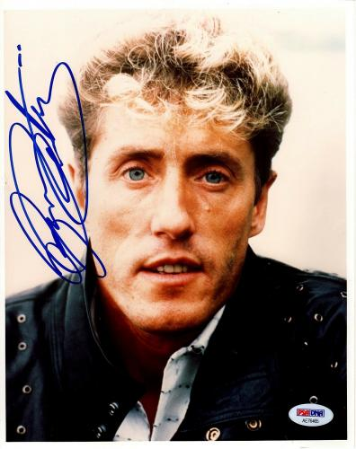ROGER DALTREY Signed Autographed The WHO 8x10 Photo PSA/DNA #AE76465