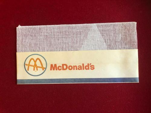 "1960's, McDonald's, ""Un-Used"" Employee (Slash Logo) Paper Hat (Scarce / Vintage)"