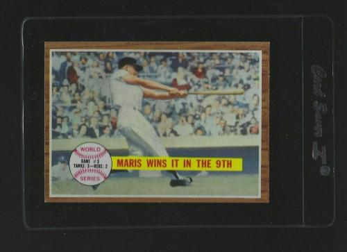 1962 Topps Baseball Maris Wins It In The 9th World Series #234 EX-MT