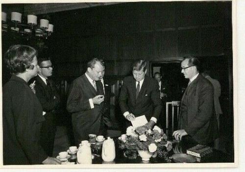 1963 President John F Kennedy Berlin Trip, Evening Dinner Event Orig Wire Photo