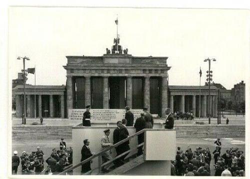 1963 President John F. Kennedy Berlin Trip, At Berlin Wall, Orig. Wire Photo