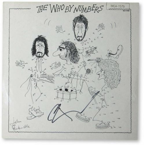 Pete Townshend  Autographed Record Album Cover The Who By Numbers JSA GG68058