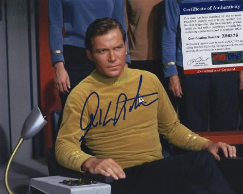 William Shatner Star Trek Signed Autographed Color 8x10 Photo Psa Dna Z96576