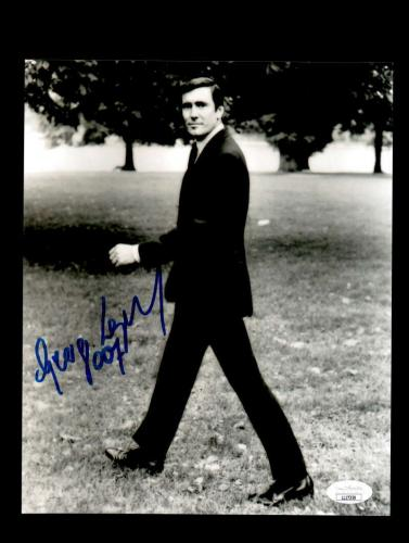 George Lazenby JSA Coa Signed 8x10 James Bond Photo Autograph