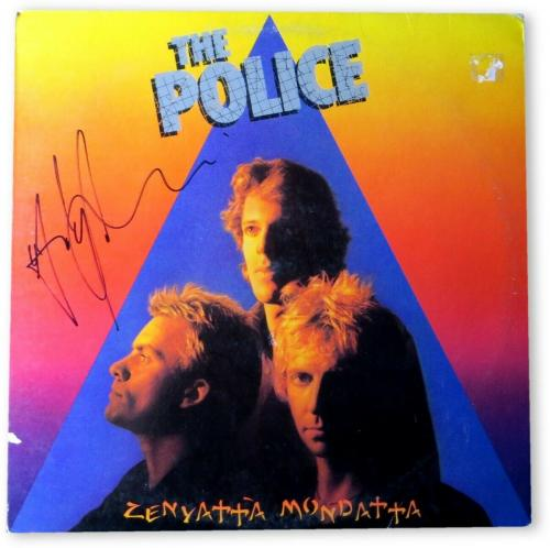 Andy Summers Signed Autographed Record Album Cover The Police JSA HH37378
