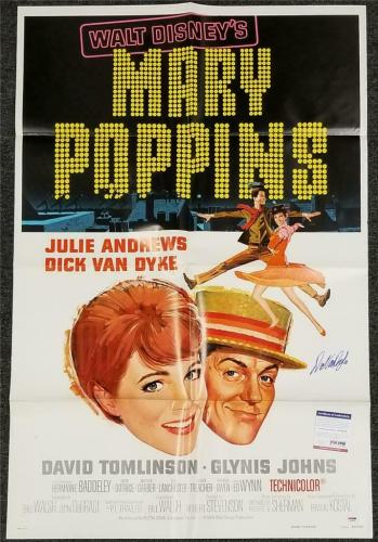 Dick Van Dyke signed Original Mary Poppins 27x40 Poster Autograph B~ PSA/DNA COA
