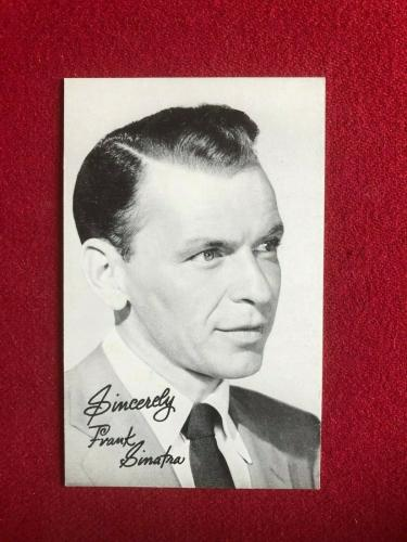 1960, Frank Sinatra, Salutation Exhibit Card (Scarce / Vintage)
