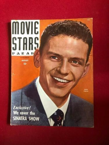 "1944, Frank Sinatra, ""MOVIE STARS PARADE"" Magazine (No Label) Scarce / Vintage"